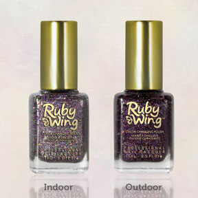 ruby wing festival uv color changing nail polish