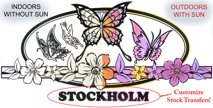 Solaractive stockholm customize uv color change heat press transfers