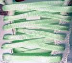 SolarActive Color Changing Plaid Shoe Laces: White to Green