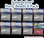 8 Pack SolarActive Color Changing Pony Beads: 8 Colors, 144 Per Pack!