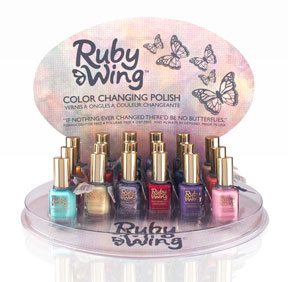 ruby wing display