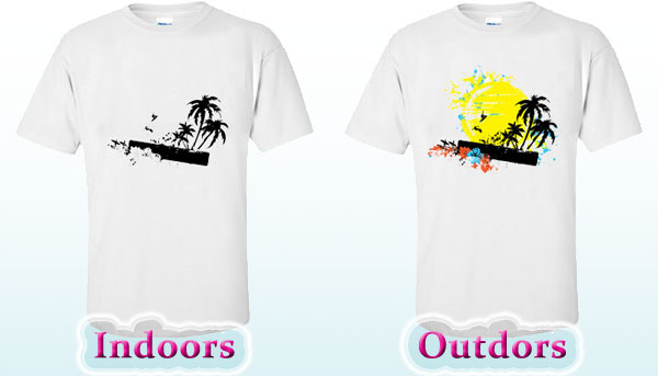 Heat press transfer solar active for 4 color process t shirt printing