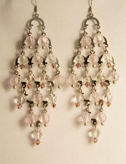 All new color change earrings feature UV beads that change colors in the sunlight as well as real swarovski crystal!