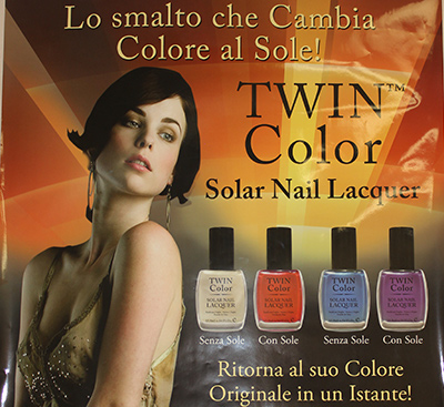 twin color nail polish