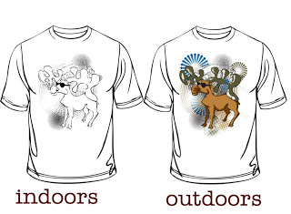 color change tshirt moose glassess