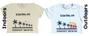 NO SKINNY DIPPING ALONE TEE