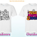 color change t-shirt peace and love