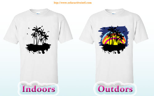 Color Changing Shirts >> Heat Press Transfer Solar Active