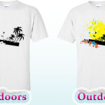 color change t-shirt sun palms
