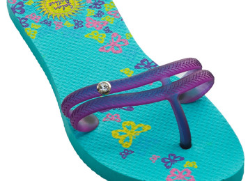 flip flop butterfly design teal