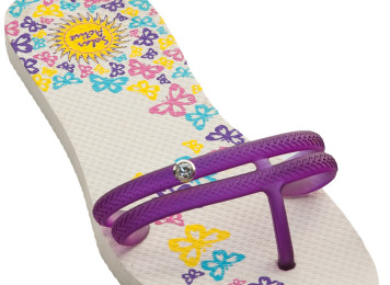 flip flop butterfly design white