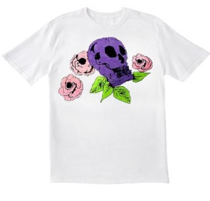 skull with roses colored