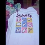 Color changing flip flops and t shirts