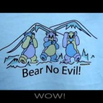 Solar Active® Color Changing Shirt Changes Color in the Rain Bear No Evil!